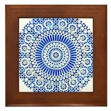 indigo blue third eye sixth chakra mosaic circle F