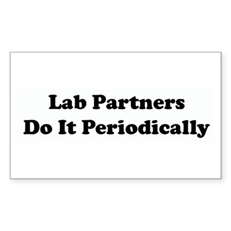 Lab Partners Do It Rectangle Sticker