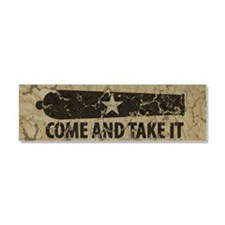 Come and Take It Car Magnet 10 x 3