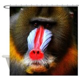 THE PRINCELY BABOON Shower Curtain