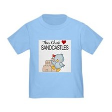 This Chick Loves Sandcastles Toddler Shirt