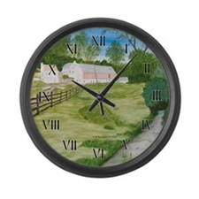 Trout Stream Large Wall Clock