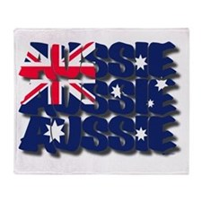 Aussie Aussie Aussie Throw Blanket