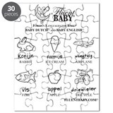 Baby Dutch and Baby English Puzzle