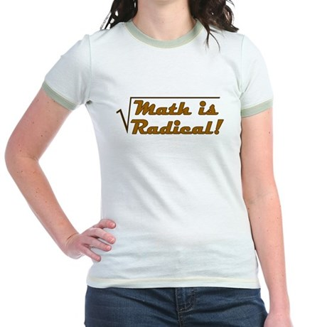 Math is Radical! Jr. Ringer T-Shirt