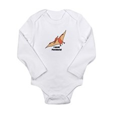 I speak pterodactyl Long Sleeve Infant Bodysuit