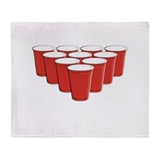 Beer Pong Throw Blanket