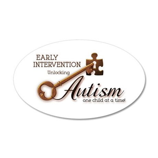 E.I. Unlocks Autism 22x14 Oval Wall Peel