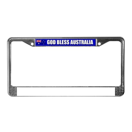 God Bless Australia License Plate Frame