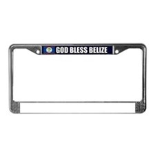 God Bless Belize License Plate Frame