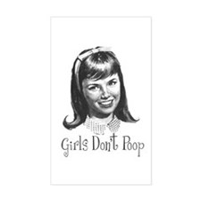 Girls Don't Poop Rectangle Decal