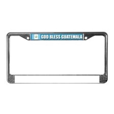 God Bless Guatemala License Plate Frame