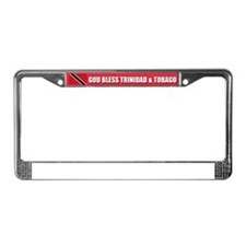 God Bless Trinidad and Tobago License Plate Frame