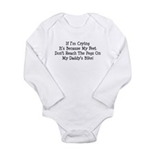 Cute Biker kids Long Sleeve Infant Bodysuit