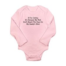 Unique Biker babies Long Sleeve Infant Bodysuit