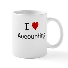Accounting Gift - I Love Accounting Small Mug