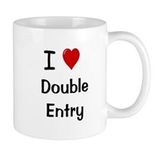 I Love Double Entry Accountant Small Mug