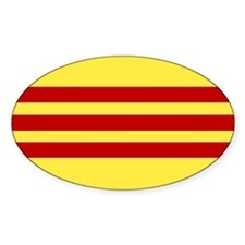 Flag of Vietnam Oval Decal