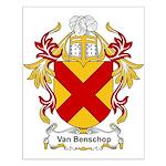 Van Benschop Coat of Arms Small Poster