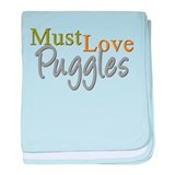MUST LOVE Puggles baby blanket