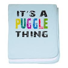 Puggle THING baby blanket