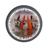 Multi-scene Kayak Wall Clock