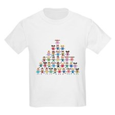 Multicultural Kids Pyramid Light T-Shirt