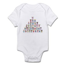 Multicultural Kids Pyramid Infant Bodysuit