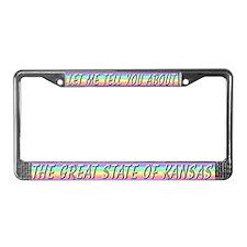 """""""Kansas"""" License Plate Frame"""