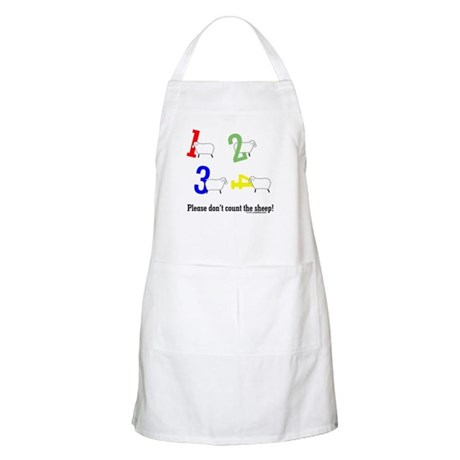 Don't count sheep BBQ Apron