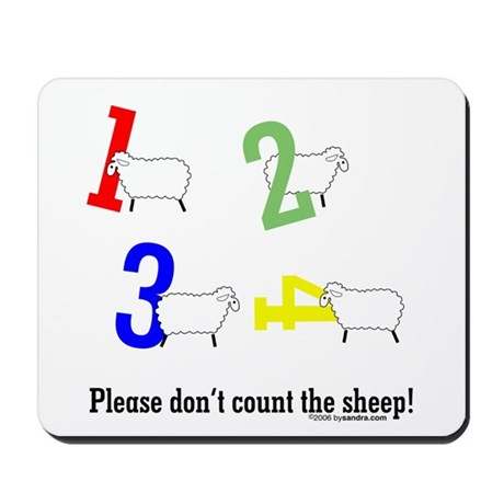 Don't count sheep Mousepad
