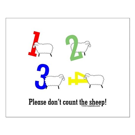 Don't count sheep Small Poster