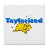 Taylorized Chick Thud Tile Coaster