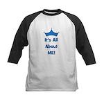 It's All About Me! Blue Kids Baseball Jersey