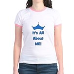 It's All About Me! Blue Jr. Ringer T-Shirt