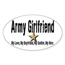 Army Girlfriend - My Hero Oval Decal