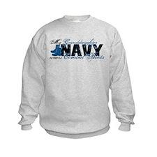 Granddaughter Combat Boots - NAVY Sweatshirt