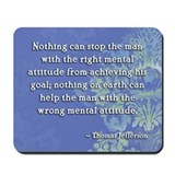 """Right Attitude"" Mousepad"