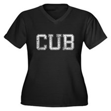 CUB, Vintage, Women's Plus Size V-Neck Dark T-Shir