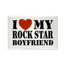 Rock Star Boyfriend Rectangle Magnet