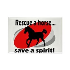 Rescue a Horse, Save a Spirit Rectangle Magnet (10