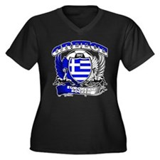 Greece European Soccer 2012 Women's Plus Size V-Ne