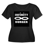 Women's Plus Size Scoop Neck Dark T-Shirt