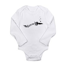 Musical Squid Long Sleeve Infant Bodysuit