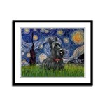 StarryNight-Scotty#1 Framed Panel Print
