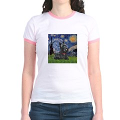 StarryNight-Scotty#1 Jr. Ringer T-Shirt