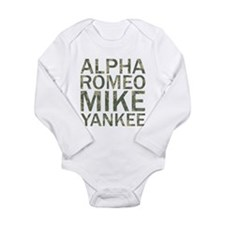 ARMY-Camo Long Sleeve Infant Bodysuit