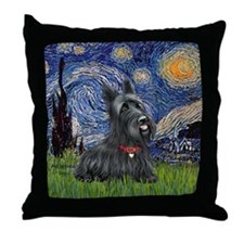 StarryNight-Scotty#1 Throw Pillow
