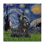 StarryNight-Scotty#1 Tile Coaster