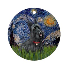 StarryNight-Scotty#1 Ornament (Round)